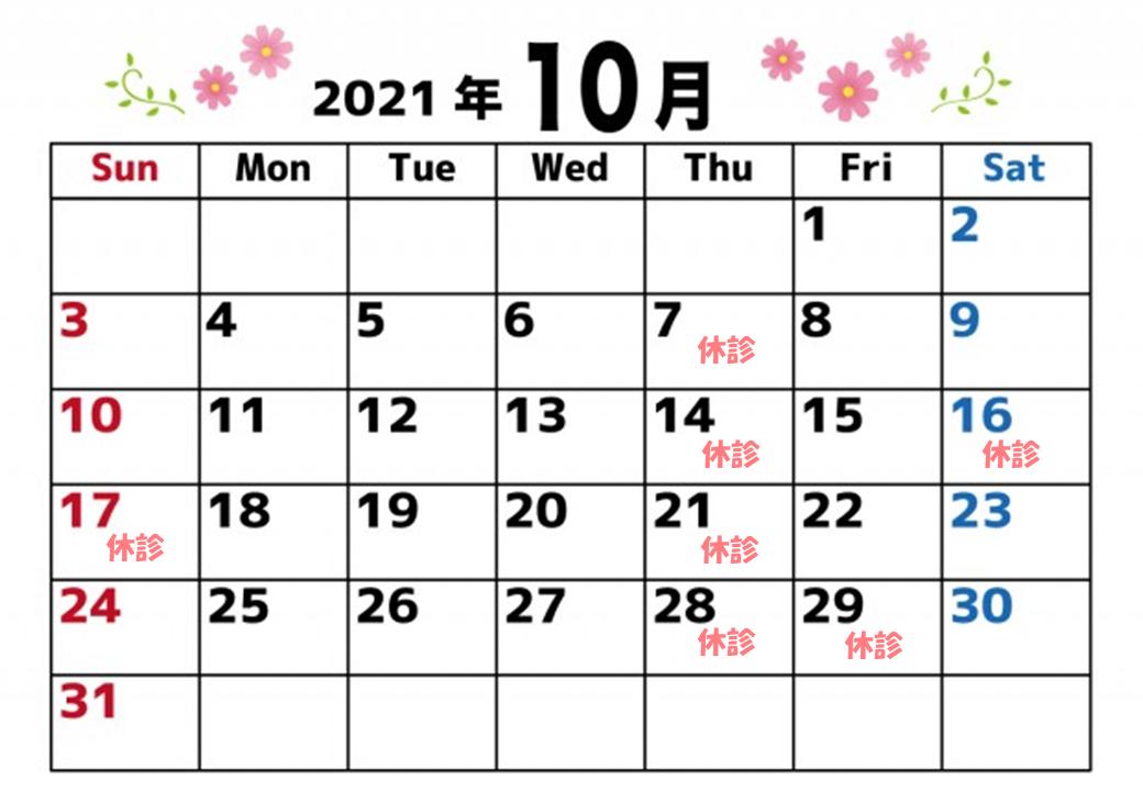 10 休診日