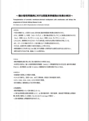 猫の腎不全と再生医療・栄養療法・補完代替医療9